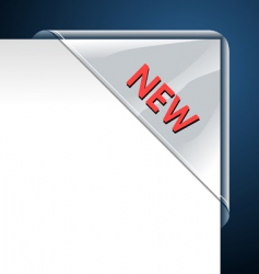 new transparent corner business ribbon vector image