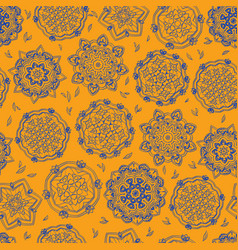 ornamental pattern circle seamless texture vector image
