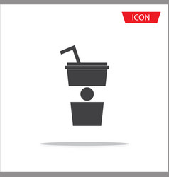 paper cup icon isolated on white background vector image