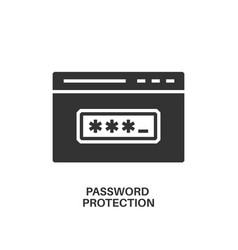 Password protection icon vector