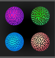 Pattern surface spheres set vector