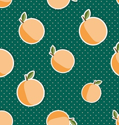 Peach pattern Seamless texture with ripe peaches vector image