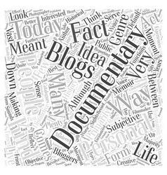 Personal blogging documentary and history Word vector