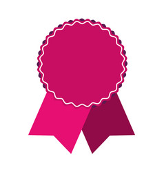Pink award ribbon vector