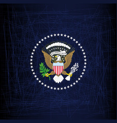 President seal eagle vector
