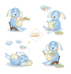 rabbit character vector image
