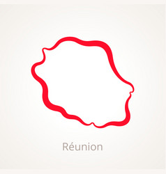 Reunion - outline map vector