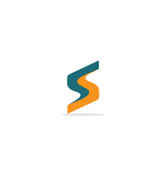 s initial colored company logo vector image