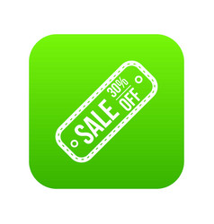 sale tag 30 percent off icon digital green vector image