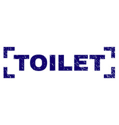 Scratched textured toilet stamp seal inside vector
