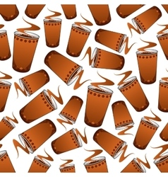 Seamless fast food coffee pattern background vector