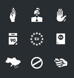 Set of ukraine icons vector