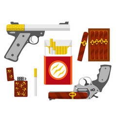 Smoking kill concept flat design element vector