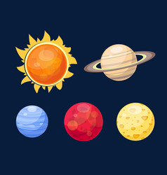 Space planets star vector