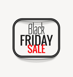 stylish black friday sale poster with dark frame vector image