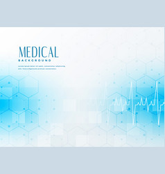Stylish blue medical concept background vector