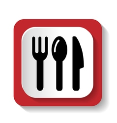 Tableware icon vector