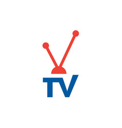 televeision tv graphic design template isolated vector image