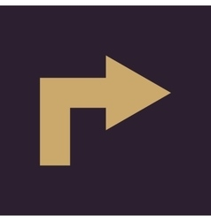The right icon Direction and arrow navigation vector image