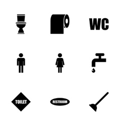 toilet icon set vector image