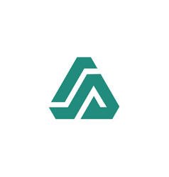 triangle logo design concept vector image