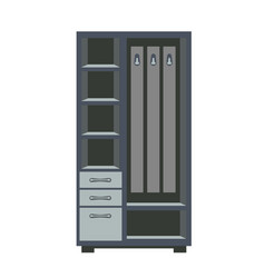 wardrobe with shelves vector image
