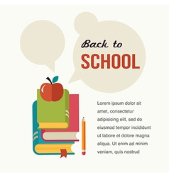 Back to school read the books concept backgound vector image vector image