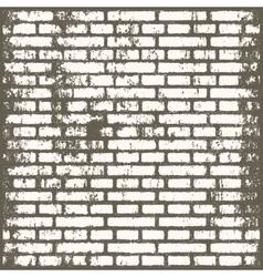 Background of old vintage dirty brick room vector image