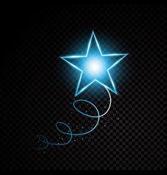 Blue glittering spiral star dust trail sparkling vector