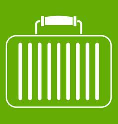 briefcase icon green vector image