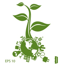 environment icon vector image vector image
