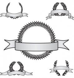 award crest set vector image