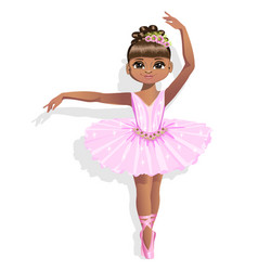 cute ballerina in a pink tutu vector image vector image