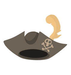 pirate hat icon cartoon style vector image