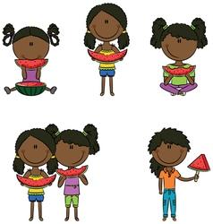 African-American girls vector image