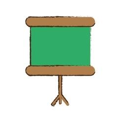 mobile chalkboard icon image vector image vector image