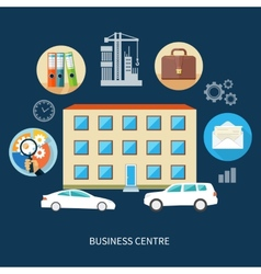 Modern business center vector image vector image