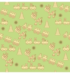 Seamless pattern of toys1 vector image