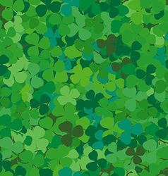 Seamless pattern with clovers vector image