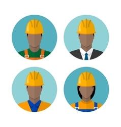 Set of builders avatars vector image vector image