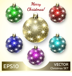 Set of Christmas Decoration Balls vector image vector image