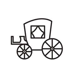 vintage carriageantique transport line vector image