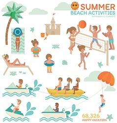 Beach Activities vector image vector image