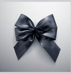 black bow and ribbons vector image