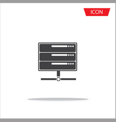 computer server icon server symbols vector image
