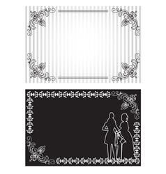 Invitation card set vector image