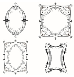 Set of abstract vintage frames vector image vector image
