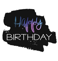 stylish happy birthday card template vector image