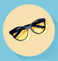 summer glasses icon vector image vector image