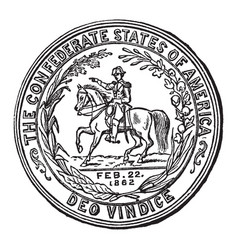 the seal of the confederate states vintage vector image